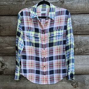 Equipment Femme Lightweight Plaid Long Sleeve